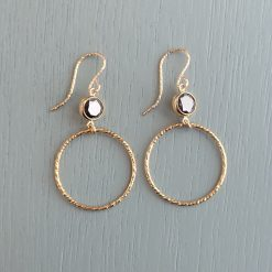 Gold & Black Crystal Earrings