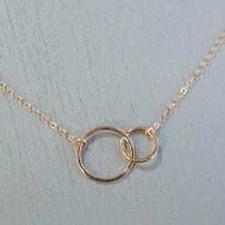 Gold Interlocking Circles Necklace
