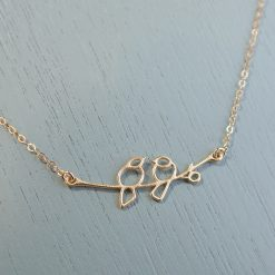 Gold Lovebirds Necklace