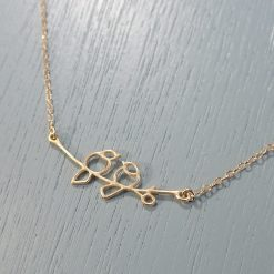 Gold Lovebirds Necklace
