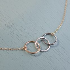 Gold & Silver Circles Necklace