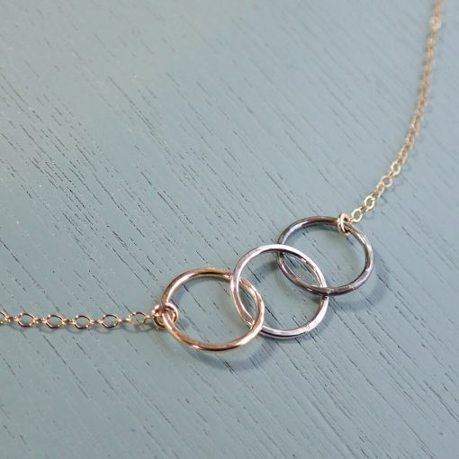 Gold & Silver Circles Necklace