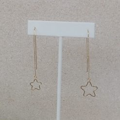 Gold Asymmetric Star Earrings