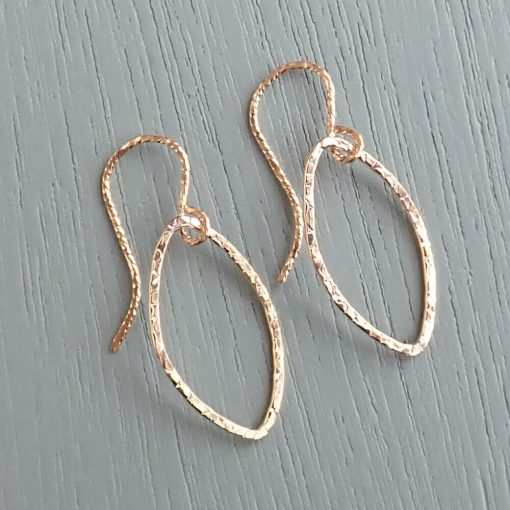 Gold Small Oval Earrings