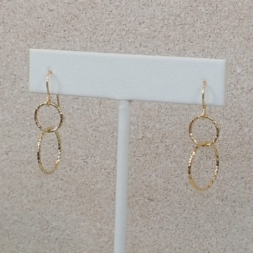 Gold Interlocking Circle Earrings