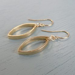Gold Smooth Oval Earrings