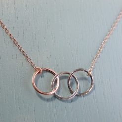 Rose Gold & Silver Circles Necklace