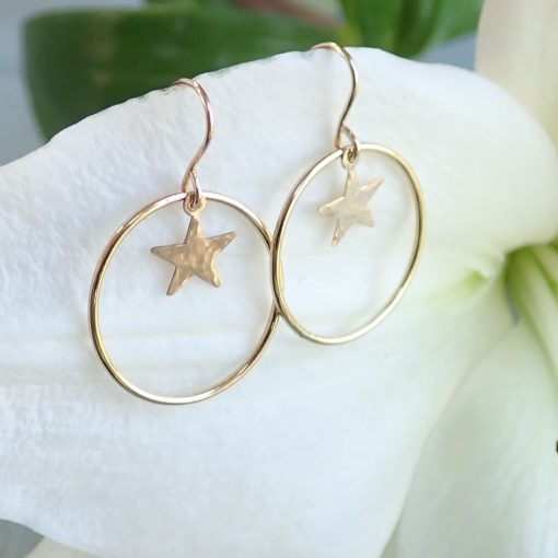 14k gold filled star earrings
