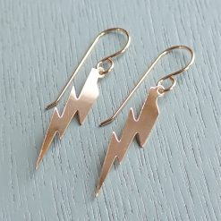 14k gold filled lightening bolt earrings