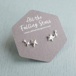 Sterling Silver star earrings studs