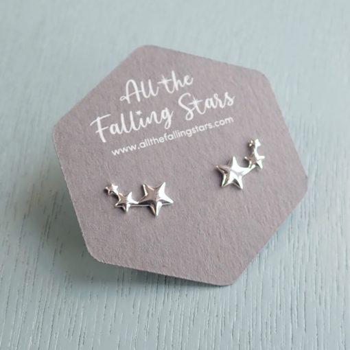 Sterling Silver star earrings studs