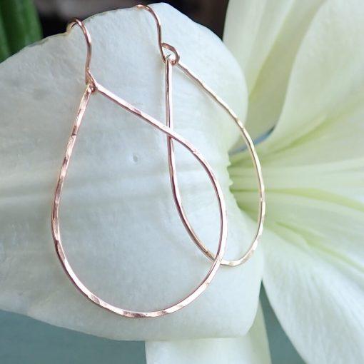 Rose Gold Filled Drop Earrings
