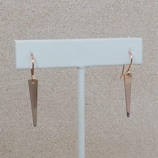 Rose Gold Small Spike Earrings