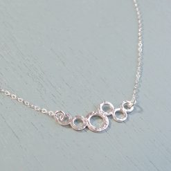 Silver Circle Cluster Necklace