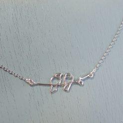 Silver Lovebirds Necklace