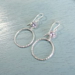 Sterling silver sparkle crystal earrings