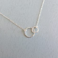 Sterling silver interlocking circles necklace