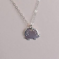 sterling silver hedgehog necklace