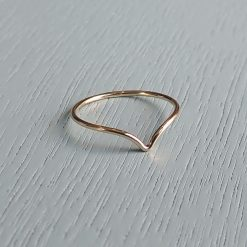Gold filled wishbone ring