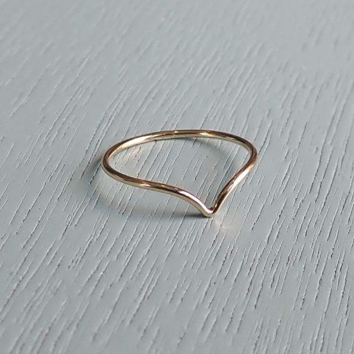 Gold filled wishbone ring