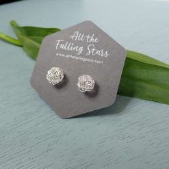 Sterling silver wire ball earrings
