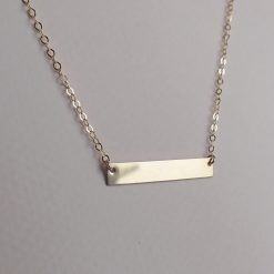 14k gold filled bar necklace
