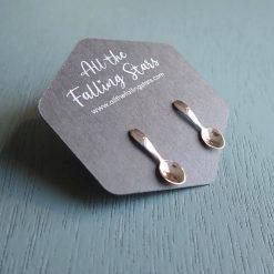 Sterling silver spoon earrings will you be my little spoon