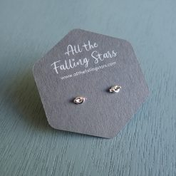 sterling silver tiny knot earrings