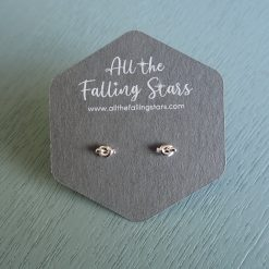 sterling silver tiny knot earrings studs