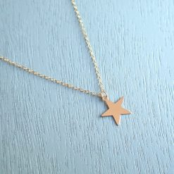 14k gold filled star necklace