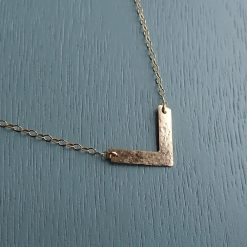 14k gold filled v necklace