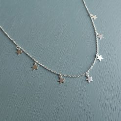 Sterling silver stars necklace