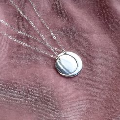 Strling silver twin set moon necklaces best friend jewellery