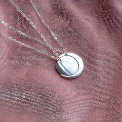 Strling silver twin set moon necklaces best friend jewellery