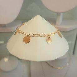 Gold filled disc bracelet