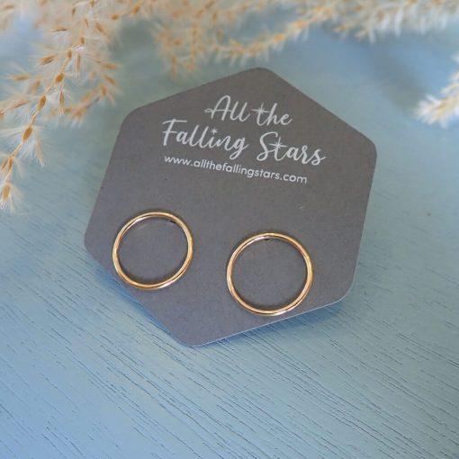 14k gold filled circle earrings