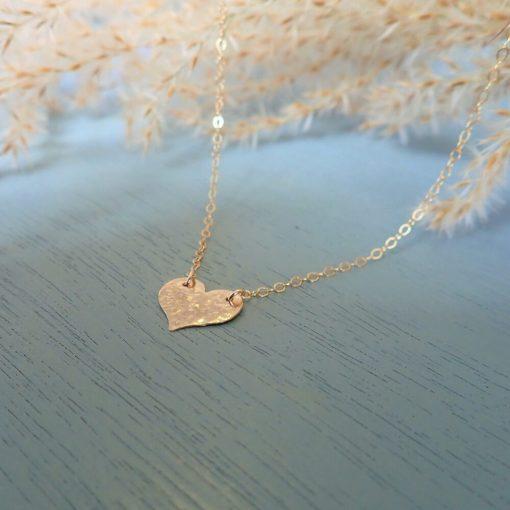 14k gold filled heart necklace